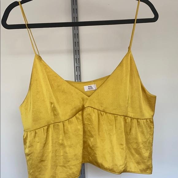 Aritzia Little Moon Yellow Silk Cami